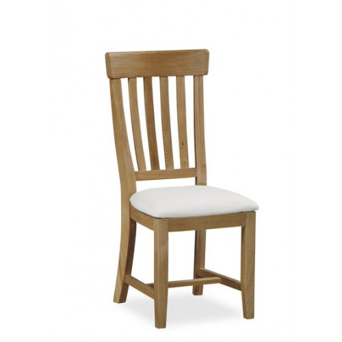 Vintage dining chair white seat